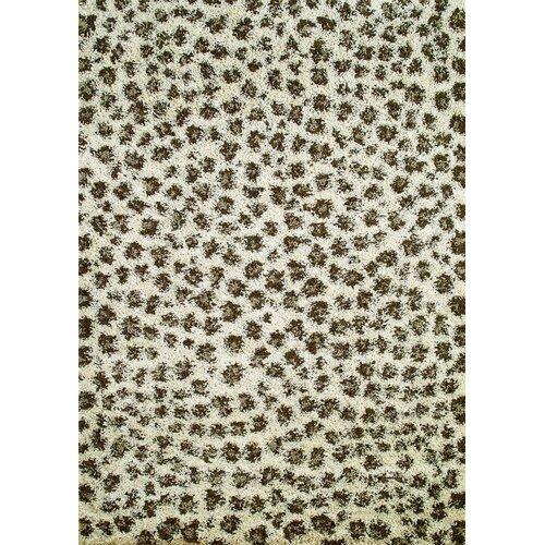 Concord Global Imports Shaggy Leopard Ivory Shag Rug