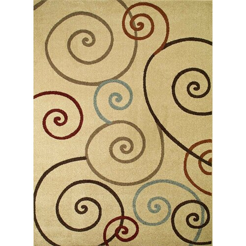 Concord Global Imports Arthur Scroll Ivory Rug
