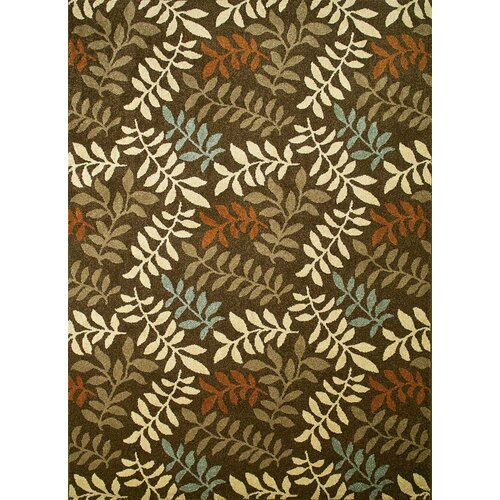 Concord Global Imports Arthur Leafs Brown Rug