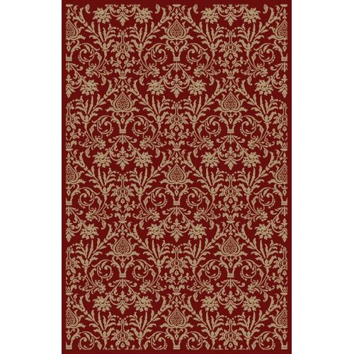 Concord Global Imports Gem Damask Red Rug