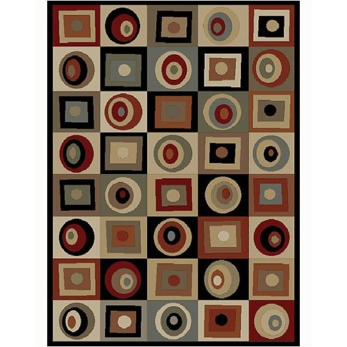 Concord Global Imports Tribeca Rounds & Squares Multi Rug