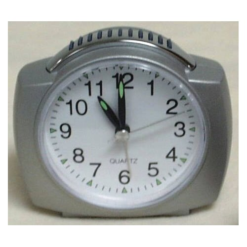 Analog Alarm Clock with Lighted Dial