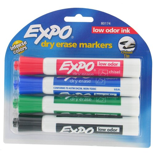 Expo Assorted Dry Erase Marker (4 Pack)