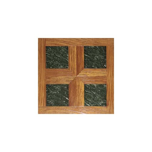 "Home Dynamix 16"" x 16"" Vinyl Tiles in Paramount Woodtone/Green Marble"