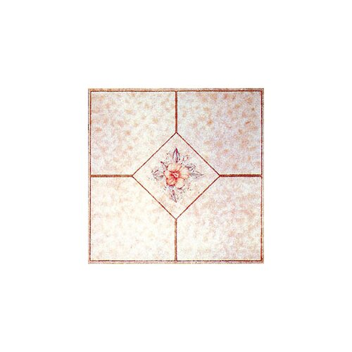 "Home Dynamix 12"" x 12"" Vinyl Tile in Machine Light Pink Flower"