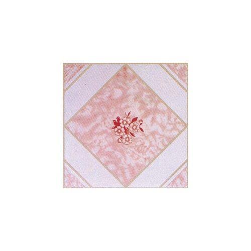 "Home Dynamix 12"" x 12"" Vinyl Tile in Pink Flower"