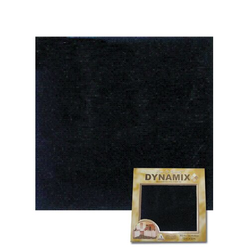 "Home Dynamix 12"" x 12"" Vinyl Tile in Machine Black"