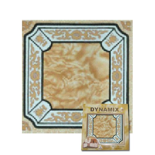 "Home Dynamix 12"" x 12"" Vinyl Tile in Machine Creme Fancy Adhesive"