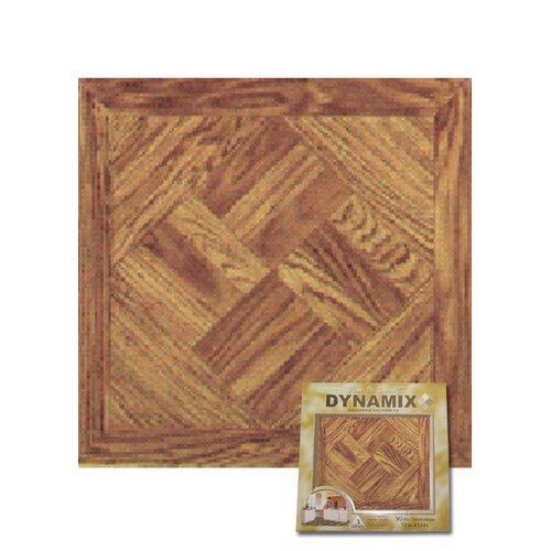 """Home Dynamix 12"""" x 12"""" Vinyl Tile in Light Wood Diamond"""