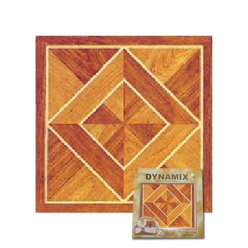 """Home Dynamix 12"""" x 12"""" Vinyl Tile in Light / Dark Wood Diamond"""