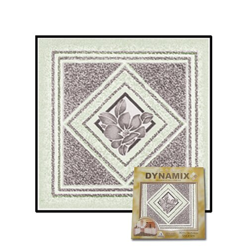"Home Dynamix 12"" x 12"" Vinyl Tile in Light Gray Flower"