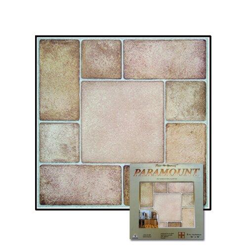"Home Dynamix 16"" x 16"" Vinyl Tiles in Paramount Stone"