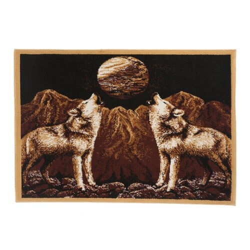 Home Dynamix Zone Howling Wolves Novelty Rug