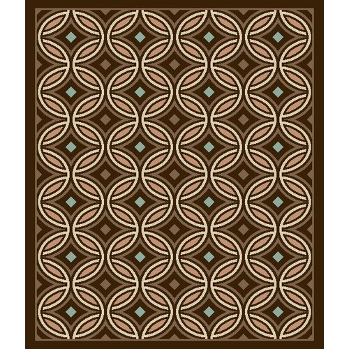Environs Brown Rings Circles Rug