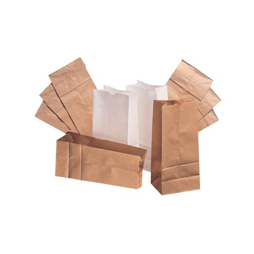 General 20 Squat Paper Bag in White