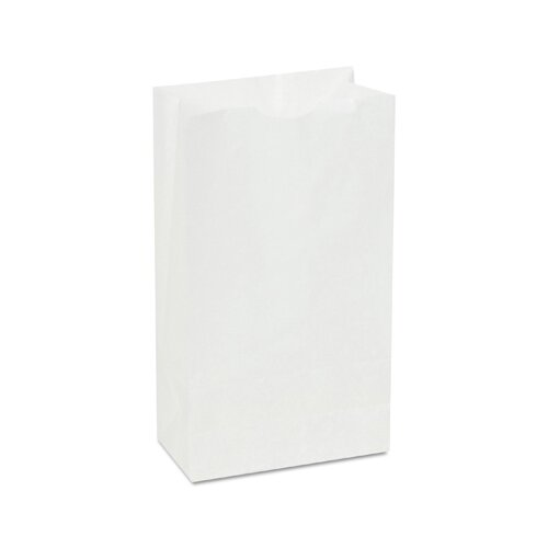 "General 6 3.63"" Paper Bag in White"