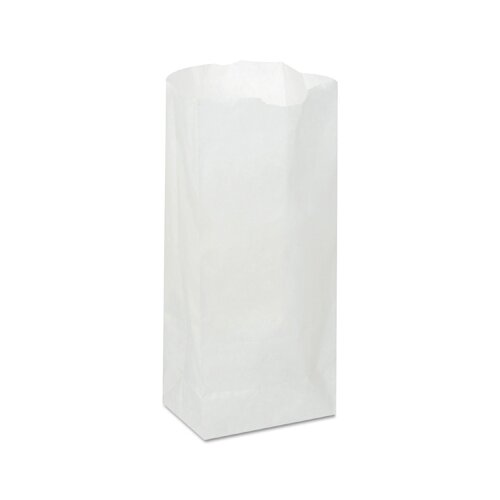 "General 4.17"" Paper Bag in White (500/Bundle)"