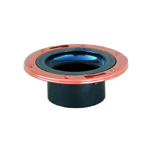 """GenovaProducts 4"""" x 3"""" ABS-DWV Closet Flange with Adjustable Metal Ring"""