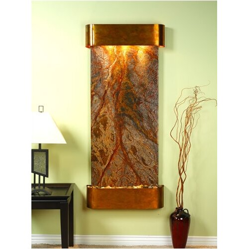Adagio Fountains Inspiration Falls Round Edges Wall Fountain