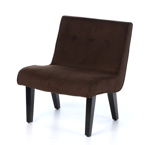 Ave Six Curves Valencia Velvet Slipper Chair