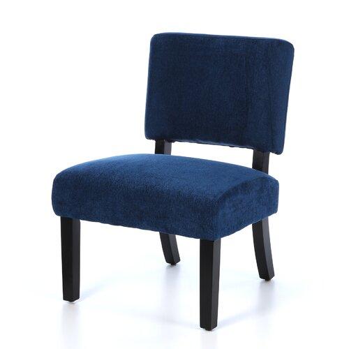 Ave Six Jasmine Fabric Slipper Chair