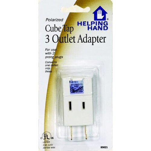 HelpingHand Cube Triple Tap Outlet Adapter