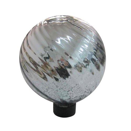 "Alpine 6"" Green Swirl Plated Glass Gazing Globe"