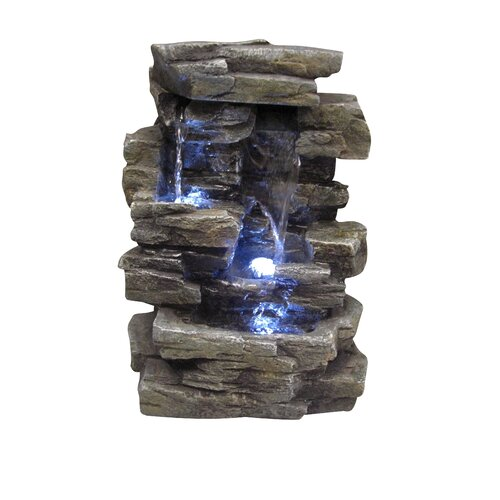 Fiberglass Slate Tabletop Fountain
