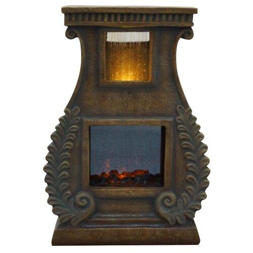 Fiberglass Sculptural Fire Fountain