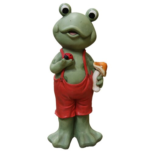 Frog Boy in Suspenders Statue