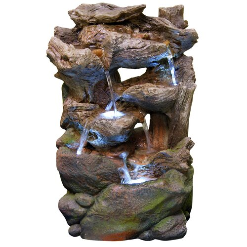 Fiberglass Rainforest Waterfall Fountain