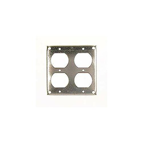 "HubbellRaco 4"" Square 2 Duplex Receptacles Box Cover"