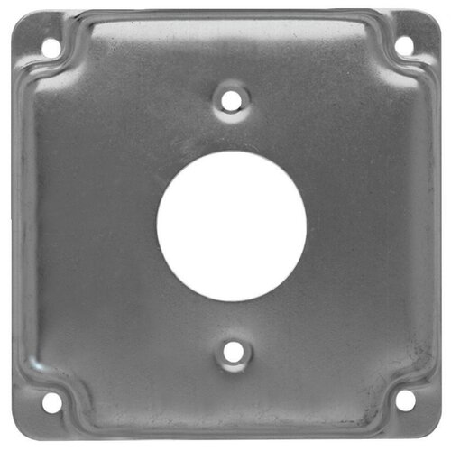"""HubbellRaco 4"""" Square Exposed Work Cover with 1 Receptacle"""