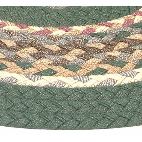 Minuteman Sage Green Solids with Mauve Accents Multi Runner Rug