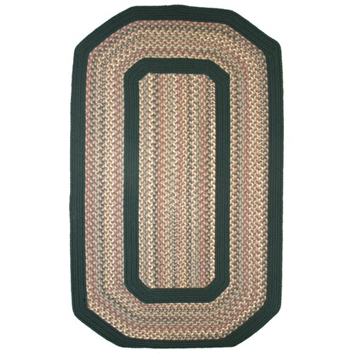 Pioneer Valley II Autumn Wheat with Dark Green Solids Multi Elongated Octagon Outdoor Rug