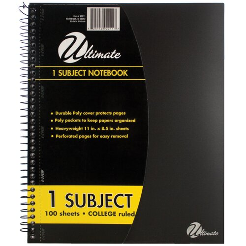 "ItsAcademic 11"" x 8.5"" 1-Subject Notebook"