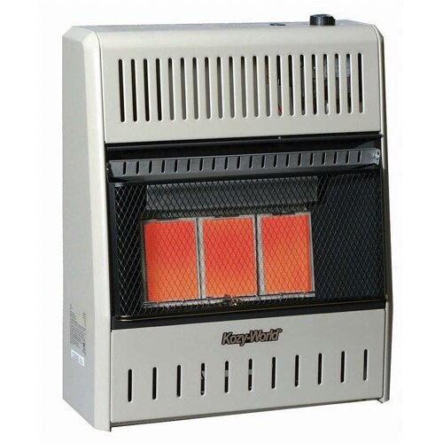 World Marketing 15,000 BTU Infrared Wall Propane Space Heater with Thermostat