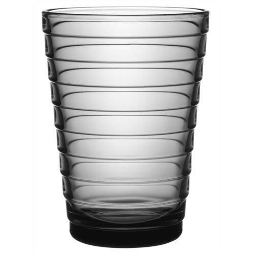 iittala Aino Aalto Tall Tumbler in Grey by iittala (Set of 2)