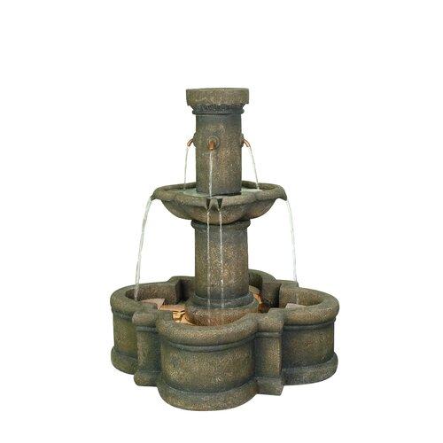 Apollo Outdoor Resin Tiered Fountain
