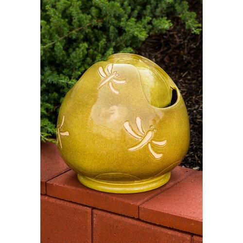 Alfresco Home Dragonfly Indoor / Outdoor Ceramic Sphere Fountain