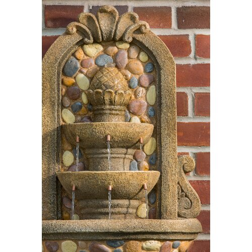 Alfresco Home Sevilla Outdoor Resin Rock Wall Fountain