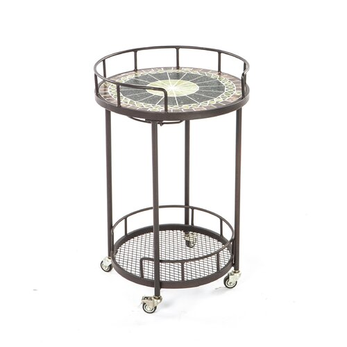 Alfresco Home Ponte Mosaic Outdoor Serving Cart