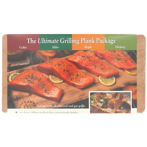 NaturesCuisine 4 Count Ultimate Outdoor Grilling Plank