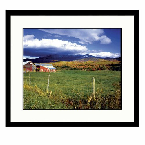 Great American Picture Landscapes Barn in Summer Framed Photographic Print