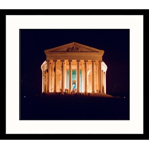 Great American Picture National Treasures Jefferson Memorial at Night Framed Photographic Print