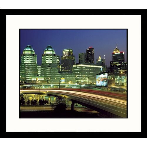 Great American Picture Cityscapes 'Cincinnati Sky Dusk' by Adam Jones Framed Photographic Print