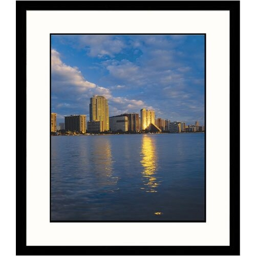 Great American Picture Cityscapes 'Miami Skyline' by Adam Jones Framed Photographic Print