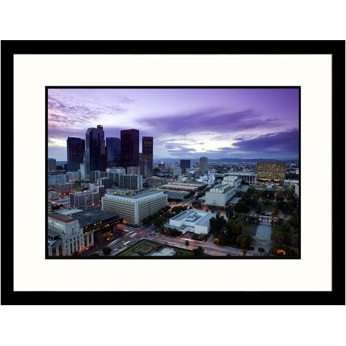 Great American Picture Cityscapes 'Los Angeles Dusk' by Walter Bibikow Framed Photographic Print