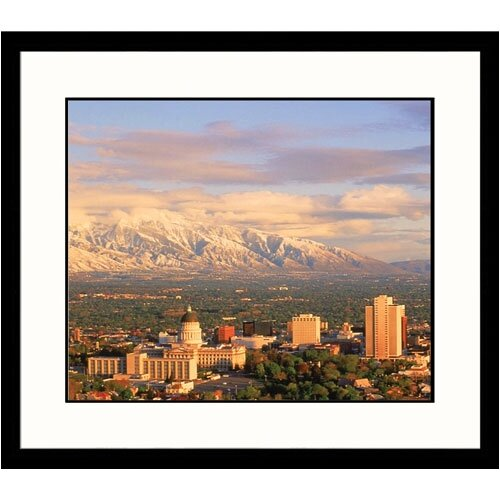 Cityscapes 'Salt Lake City Skyline' by Willie Holdman Framed Photographic Print