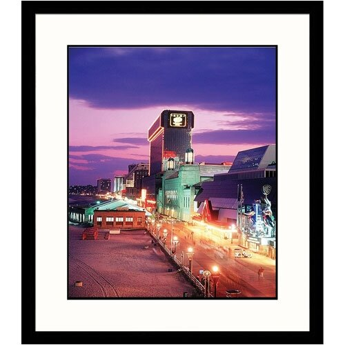 Cityscapes 'Atlantic City Boardwalk' by Rudi Von Briel Framed Photographic Print